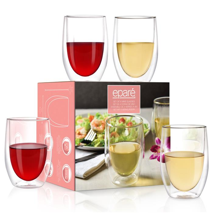 VX-8109-4 - Epare Double-Wall Wine Glass (Set of 4)