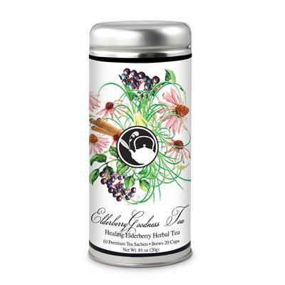 VX-8126-ElderBerry - Tea Can Company Elderberry Energy Tea- Tall Tin