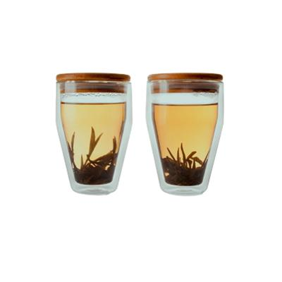 VX-8150 - Epare Double-Wall Tumbler Glass w/ Lid (Set of 2)