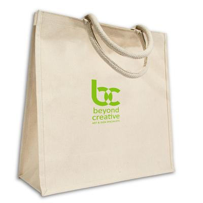 VX-5038 - Heather Laminated Canvas Tote
