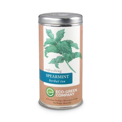 VX-8128- Spearmint Herbal - Tea Can Company Spearmint Herbal Simply Tea - Tall Tin