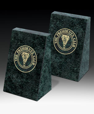 Limited Stocks, BX-1600G, Green Marble Bookends