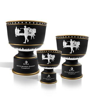 Ceramic Trophy Cups, CGC33-CGC34-CGC35, Black Ceramic Cup with Gold Accents