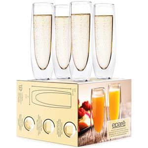 Epare Double-Wall Champagne Glass (Set of 4)