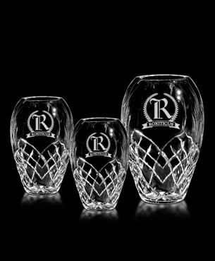 Crystal Trophy Cups, G20, Durham Barrel Vase