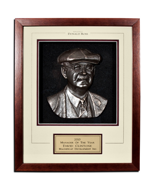 Framed Awards, MSBDR, Donald Ross Matted Shadowbox