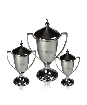 Metal Trophy Cups, P-TR70, Pewter Trophy Cup with Lid