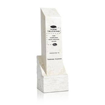0822WAM - White Agate Square Column
