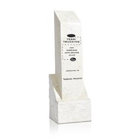 0822WAM-White Agate Square Column