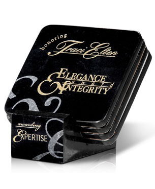 Limited Stocks, 57, Ebony Stone Coaster Set