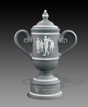 Ceramic Trophy Cups, CGC23, Men's Vintage Golf Cup