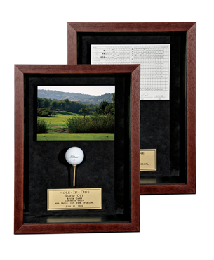Hole-In-One, FR043, Mahogany Frame with Scorecard/Photo