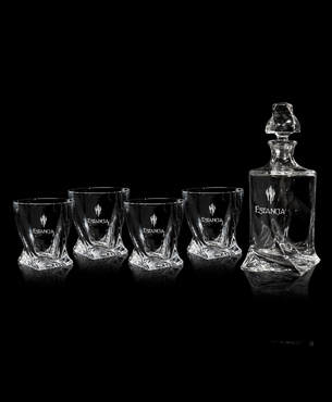 Drinkware, FS-843-SET, Quadro Decanter Set