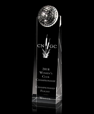 Crystal, G6121, Crystal Golf Tower Award
