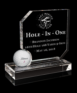 Crystal, G6130, Crystal Hole-in-One Award