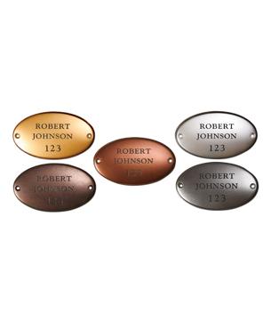 Plates, LT-RES-OV, Domed Oval Locker Tag
