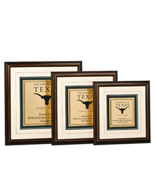 Framed Awards, SE, Small Engraved Award